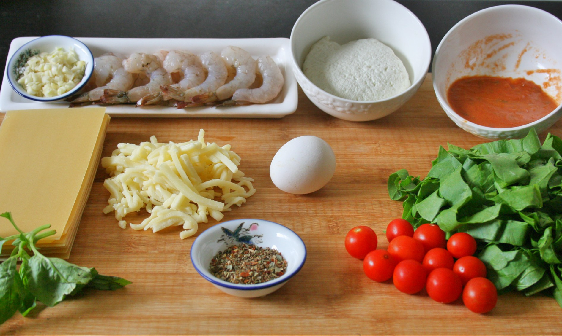 Ingredients Prawn Lasagna Roll ups