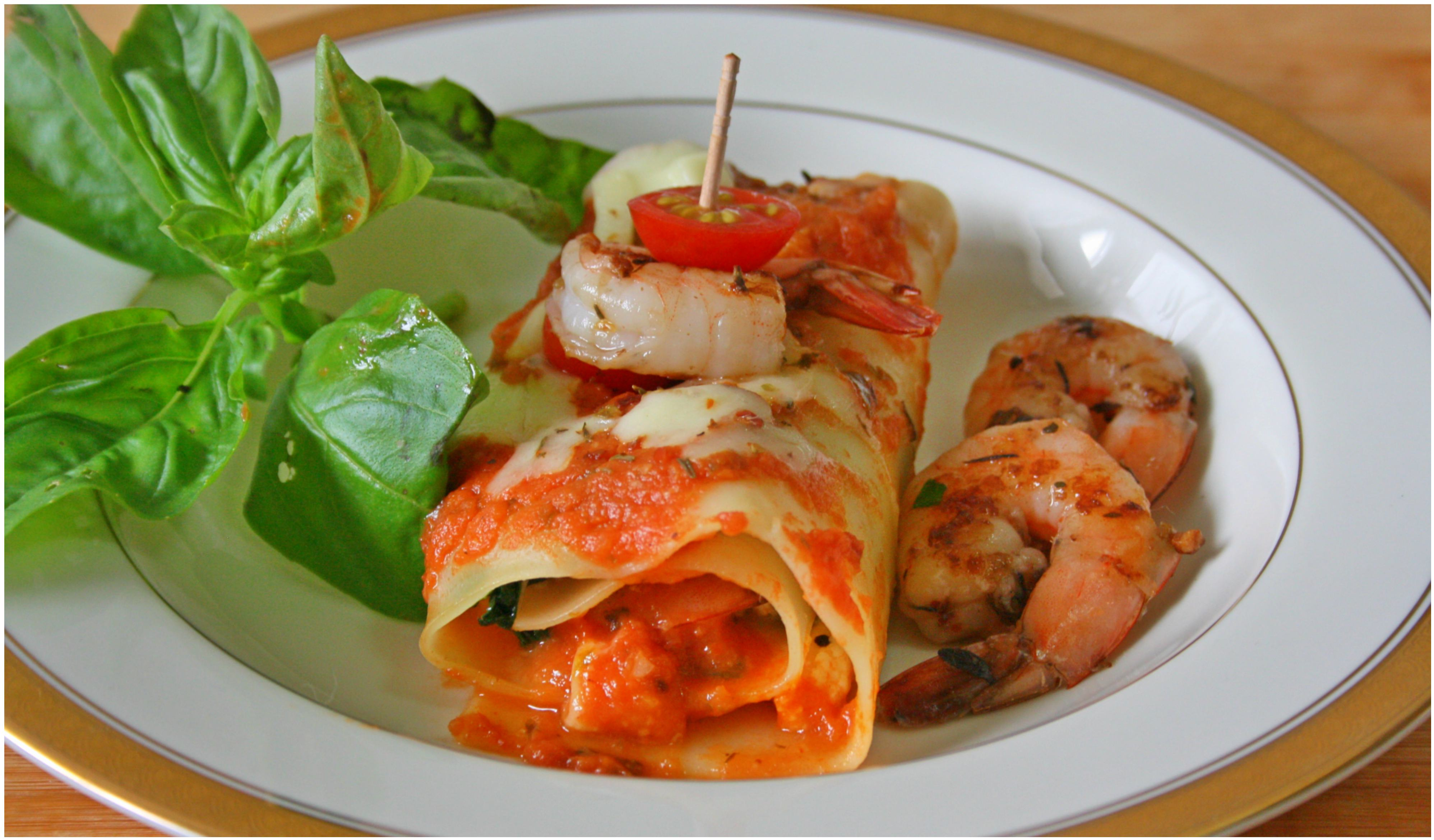 Prawn Lasagna Roll Up 1